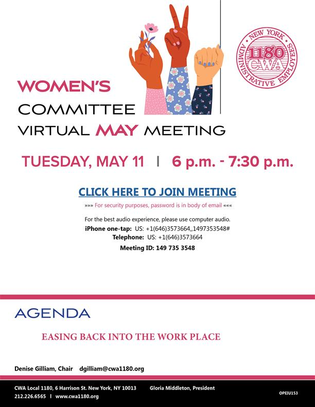 2021-05 Womens Committee May